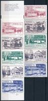 Villamosok bélyegfüzetlap + bélyegfüzet Trams stamp-booklet sheet + stamp-booklet
