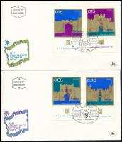 Independence set with tab + block 3 FDC, Függetlenség tabos sor + blokk 3 db FDC-n