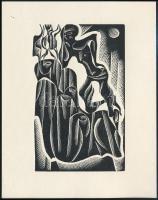 Grmelova, Anna: Fájdalom. Klisé, papír, 14x11 cm