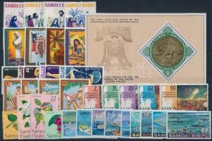 1975-1976 34 stamps + 1 block 1975-1976 34 db klf bélyeg, közte teljes sorok + 1 db blokk