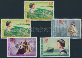 25th anniversary of Queen Elizabeth II.'s reign set with inverted watermark, II. Erzsébet királynő uralkodásának 25. évfordulója sor fordított vízjellel