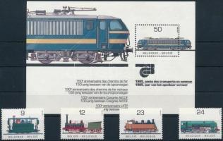 Mozdony sor + blokk Locomotive set + block
