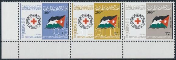 Red Cross margin stripe of 3 Vöröskereszt ívsarki hármascsík