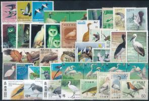 1950-1997 Birds 42 stamps, 1950-1997 Madár motívum 42 db klf bélyeg, közte teljes sorok és összefüggések