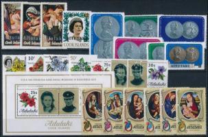 1972-1974 22 stamps + block 1972-1974 22 klf bélyeg + blokk