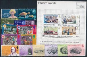 1979-1980 15 stamps + block, 1979-1980 15 klf bélyeg + blokk