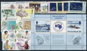 1983-1984 16 stamps + block, 1983-1984 16 klf bélyeg + blokk