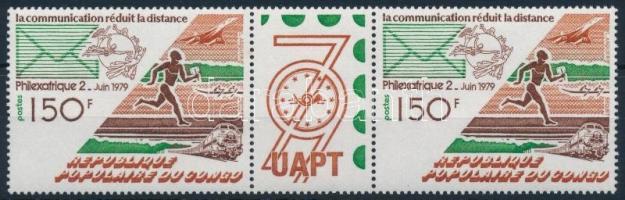 International Stamp Exhibition closing values pair with coupon Nemzetközi bélyegkiállítás záróérték szelvényes párban
