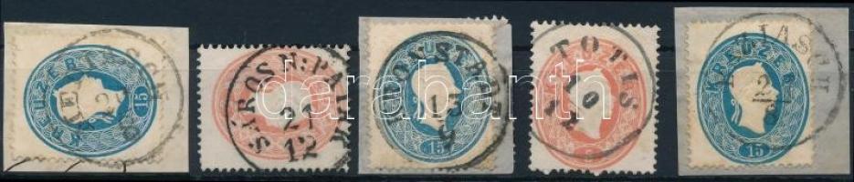 5 stamps with nice cancellations, 5 db bélyeg szép bélyegzésekkel