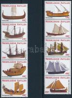 2010 Hajó sor 2 db ötöscsíkban Mi 1848-1857