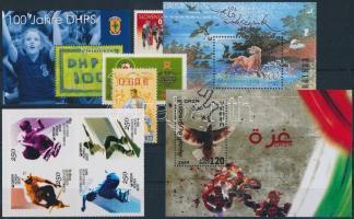 2006-2009 3 block + 3 stamps + block of 4 2006-2009 3 klf blokk + 1 4-es tömb + 3 klf önálló érték