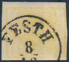 1850 1kr MP citromsárga ,,PESTH