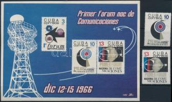 Space research 2 stamp + block Űrkutatás sor 2 értéke + blokk