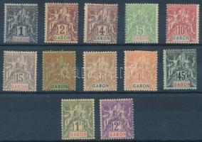 1904 Forgalmi sor 12 értéke Mi 16-22 + 24 + 26-27 + 30-31