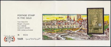1970 Müncheni olimpia aranyfóliás bélyeg számozott ajándék csomagolásban Mi 1248