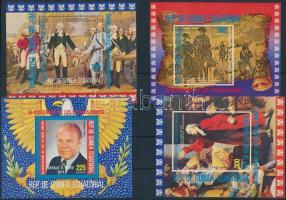 American presidents (III) perforated and imperforated block set, Amerikai elnökök (III) fogazott és vágott blokksor