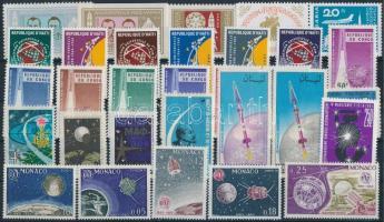 1964-1965 Űrutazás, űrkutatás 31 klf bélyeg, közte sorok 1964-1965 Space travel, space research 31 stamps
