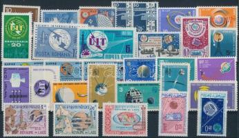 Űrutazás, űrkutatás 31 klf bélyeg, közte sorok Space travel, space research 31 stamps