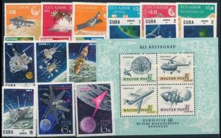 1964-1967 Űrutazás, űrkutatás 4 klf sor + 1 blokk 1964-1967 Space travel, space research 4 sets + 1 block