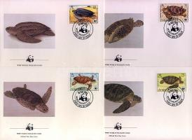 1983 WWF teknősök FDC Mi 541-544
