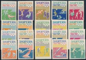 Olympics stamp perforated and imperforated set, Olimpia fogazott és vágott sor