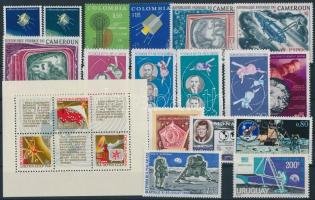 1968-1970  Űrutazás, űrkutatás 17 klf bélyeg + 1 blokk 1968-1970 Space travel, space research 17 stamps + 1 block