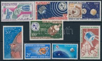 Space travel, space research 8 diff stamps, Űrutazás, űrkutatás 8 klf bélyeg