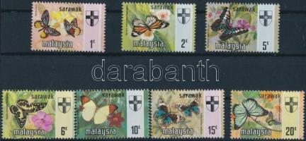 Sarawak 1971 Lepkék sor Mi 219-225