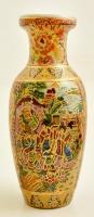 Kínai váza. Kézzel festett, jelzett. hibátlan. / Chinese porcelain vase 25 cm