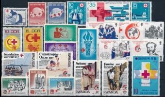 1959-1989 Vöröskereszt motívum 6klf sor + 4 db önálló érték, 1959-1989 Red Cross motive 6 sets + 4 diff stamps