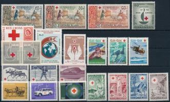 1949-1988 Vöröskereszt motívum 7 klf sor + 4 db önálló érték, 1949-1988 Red Cross motive 7 sets + 4 diff stamps