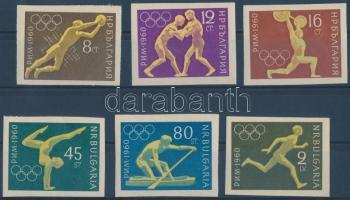 1960 Nyári olimpia vágott sor Mi 1178-1183