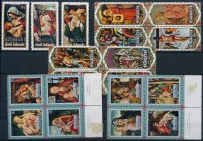 1972-1974 39 db bélyeg, közte teljes sorok és összefüggések 2 stecklapon