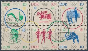 Olympics block of 6, Olimpia hatostömb
