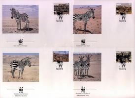 1991 WWF Zebra FDC Mi 702-705
