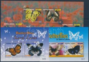 Butterfly mini sheet + blockset Pillangó kisív + blokksor