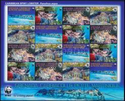 2009 WWF: Karibi languszta teljes ív Mi 4500-4503