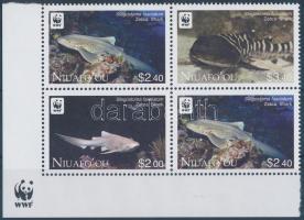 WWF: Zebra Shark corner block of 4 WWF: Zebracápa ívsarki négyestömb