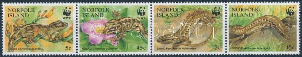 WWF: Skinks and geckos stripe of 4 WWF: Gyíkok és gekkók négyescsík