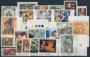 Painting motive 1972-1993 4 sets + 8 diff stamps + 1 pair, Festmény motívum 1972-1993 4 klf sor + 8 klf önálló érték + 1 pár