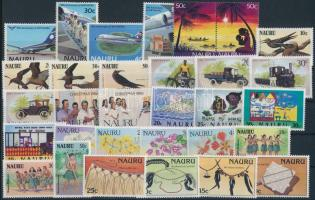 1985-1987 31 stamps, with sets 1985-1987 31 klf bélyeg, közte sorok