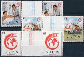 125th anniversary of International Red Cross set centered pairs 125 éves a Nemzetközi Vöröskereszt sor ívközéprészes párokban