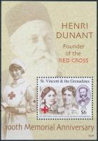 Henri Dunant's death centenary block Henri Dunant halálának 100. évfordulója blokk