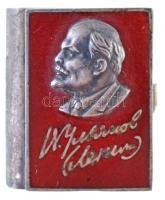 Szovjetunió DN Lenin minikönyv, Ag? jelzéssel, eredeti dísztokban, nem lapozható (9,64g/18x22mm) T:2 Soviet Union ND Lenin minibook with Ag? mark, in original case, not a real book, just a decoration (9,64g/18x22m) C:XF