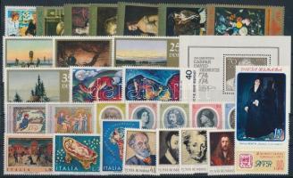 Painting 1971-1974 7 sets + 3 stamps + 1 block, Festmény motívum 1971-1974 7 klf sor + 3 klf önálló érték + 1 blokk