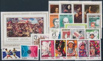 20 klf bélyeg + blokk 20 stamps + block