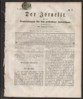 Jewish newspaper with 1Kr stamp, Der Israelit mainzi zsidó újság  1Kr bélyeggel