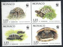 1991 WWF Görög teknősök négyestömb Mi 2046-2049