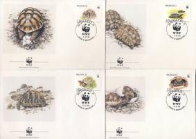 1991 WWF Görög teknősök FDC Mi 2046-2049