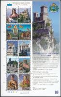 San Marino Republic, Japan-San Marino Common Issue mini sheet, San Marino Köztársaság, Japán-San Marino közös kiadás kisív